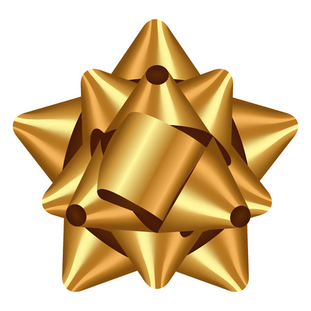 Vector illustration of gold bow Vectores