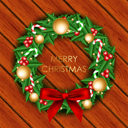 Vector Illustration of christmas wreath Vector