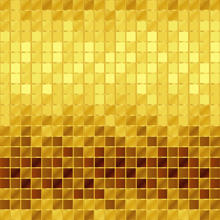 golden mosaic Stock Vector - 33501423
