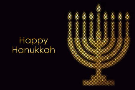 Vector \Happy Hanukkah\ card Vector