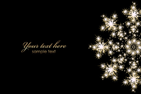 fireworks on white background: Vector background with glowing snowflake