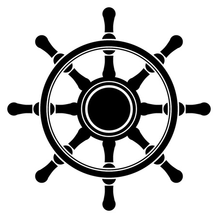 seafaring: Vector illustration of steering wheel frame with space for text