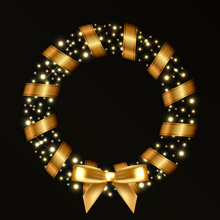 Vector Christmas wreath Vector