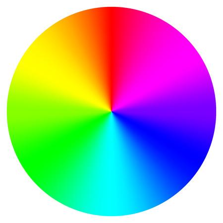 Vector illustration of color wheel