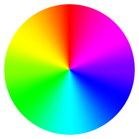 rainbow print: Vector illustration of color wheel