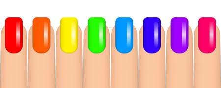 Vector illustration of colorful nails 일러스트