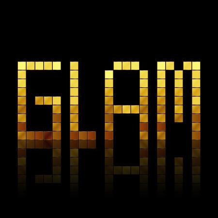 glam: Ilustraci�n vectorial de letras de oro brillante - Glam Vectores