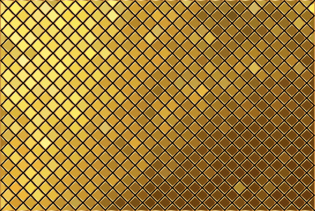 Vector gold mosaic background Illustration