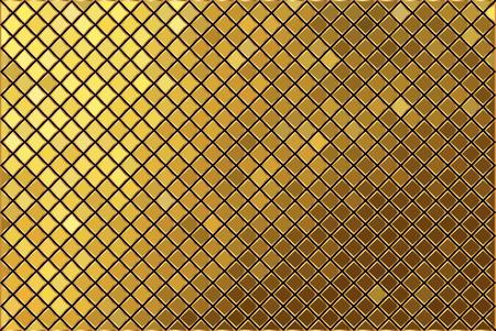 Vector gold mosaic background Illustration