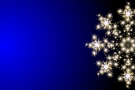 Vector background with glowing snowflake