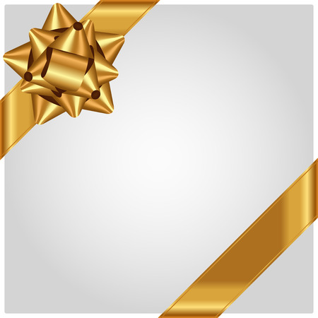 Vector luxury background with gold bow  イラスト・ベクター素材