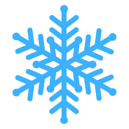 froze: Vector illustration of blue snowflake