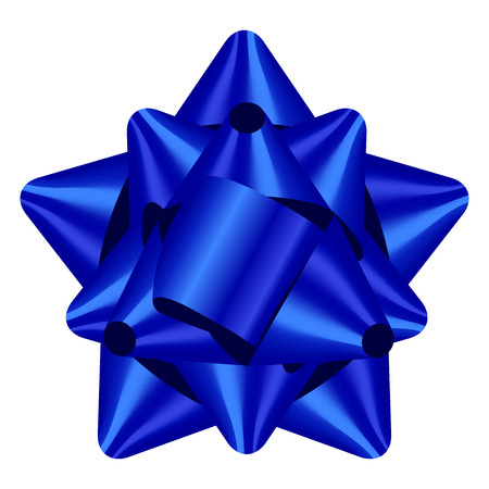 blue bow: Vector illustration of blue bow