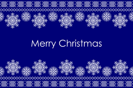 crocheted: Vector Merry Christmas background with traditional christmas knitted ornamental pattern