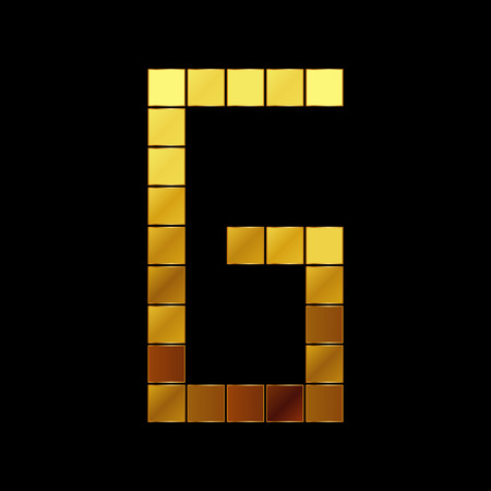 Vector illustration of shiny gold letter - G Vector