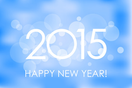 rime: Happy New Year 2015 winter background