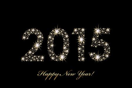 반짝 벡터 2015 행복 한 새 해 배경