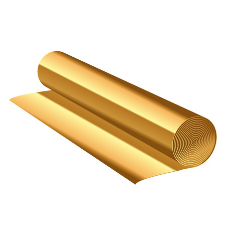 foil: Vector illustration of gold foil