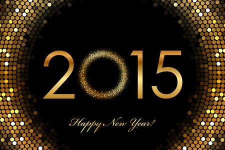 nieuwjaar: Vector - 2015 Gelukkig Nieuwjaar gloeiende achtergrond