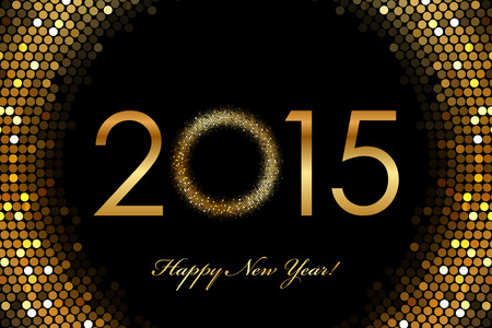 new year: Vector - 2015 Happy New Year glowing background