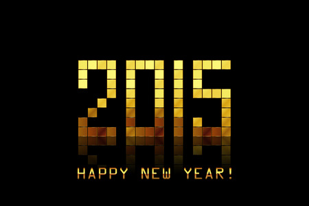 Vector - Happy New Year 2015 - with golden numbers Vector