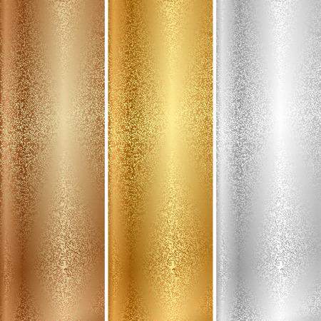 Vecteur textures métalliques