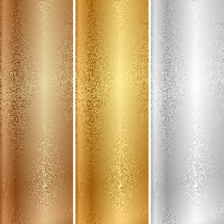 Vector metal textures Stock Illustratie