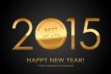 satisfaction guaranteed: Vector Certificate - 2015 Best Year! 100% Satisfaction Guaranteed!