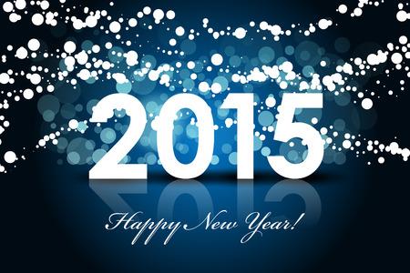 Navidad: Vector 2015 - Happy New year background
