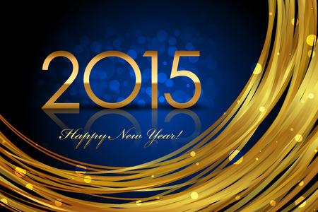 glisten: Вектор 2015 светящегося синего фона Иллюстрация