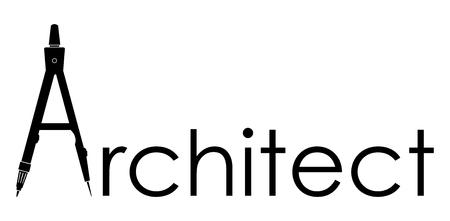 compas de dibujo: Arquitecto - icono de vectores Foto de archivo