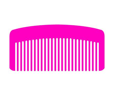 comb: Vector illustration of pink comb