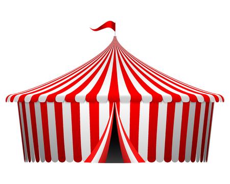 fondo de circo: Ilustraci�n vectorial de la carpa de circo Foto de archivo