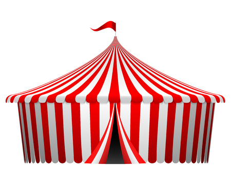 marquee tent: Vector illustration of circus tent