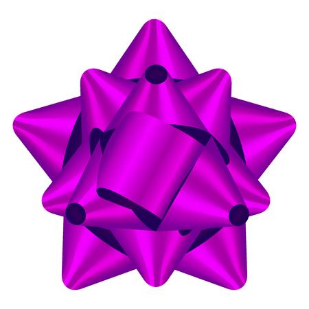 moño rosa: ilustración vectorial de lazo morado Foto de archivo