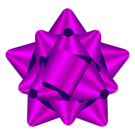 bow isolated: Vector illustration of purple bow Stock Photo