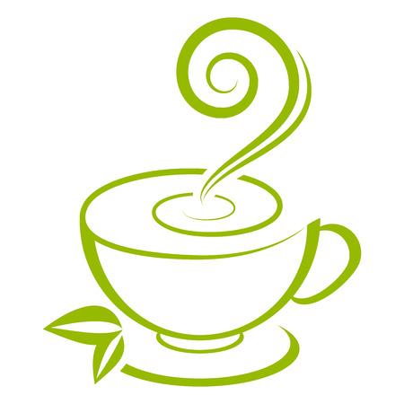 cup: Vector cup of green tea