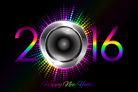 volume glow light: Party - vector 2016 New Year background