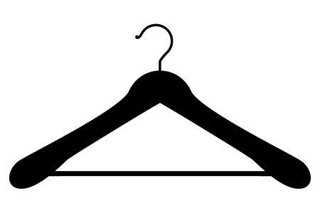 laundry hanger: Vector illustration of hanger