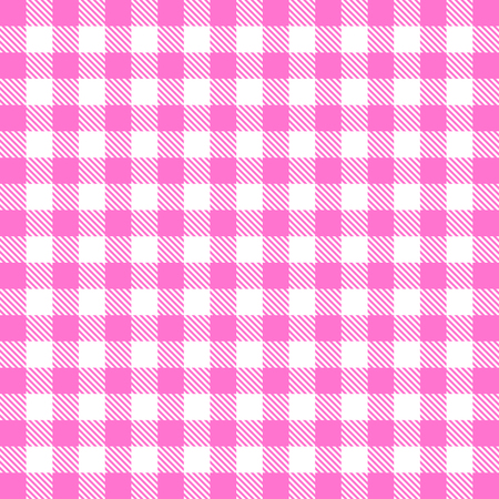 Vector gingham seamless pattern in pink Stock Photo