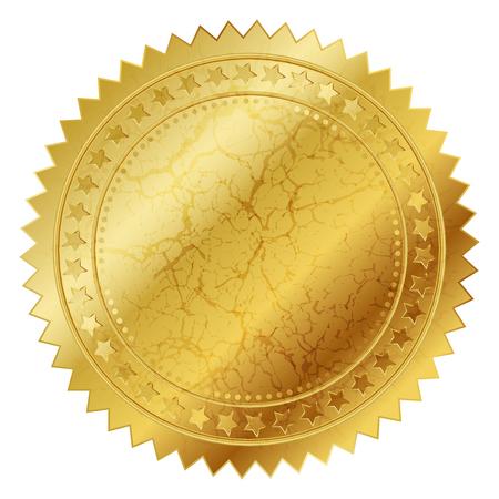 diploma: Ilustración del vector del sello de oro