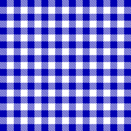 cooking chef: Vector gingham seamless pattern in blue