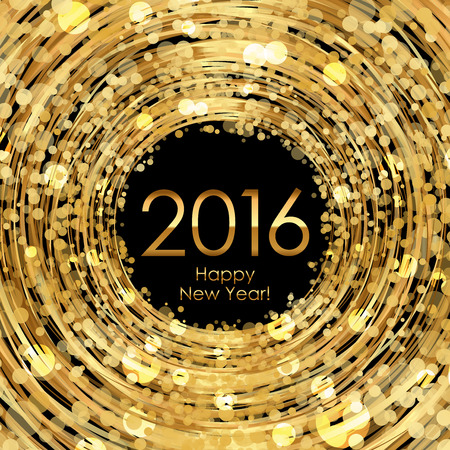glistening: Vector 2016 glowing gold background