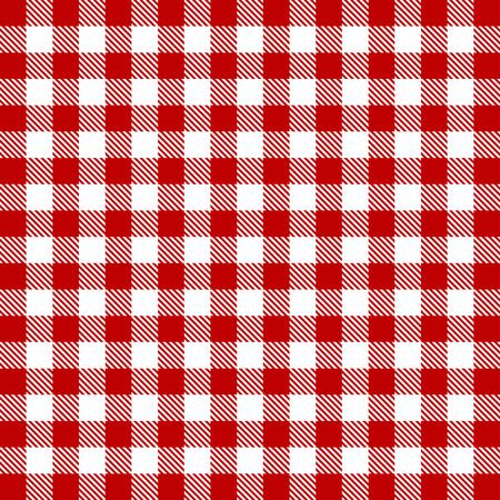 赤ギンガム シームレスなパターンをベクトル