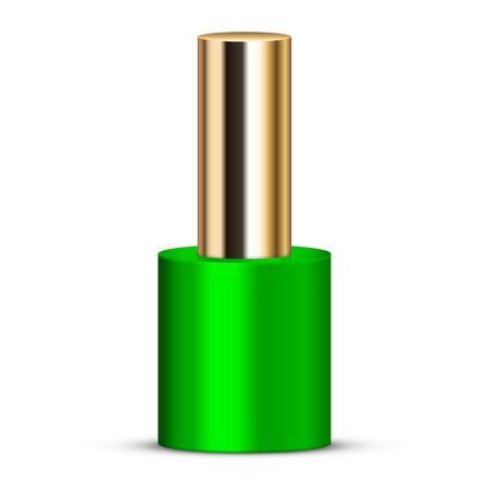 toenail: Vector illustration of green nail polish Stock Photo