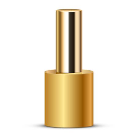 toenail: Vector illustration of gold nail polish Stock Photo