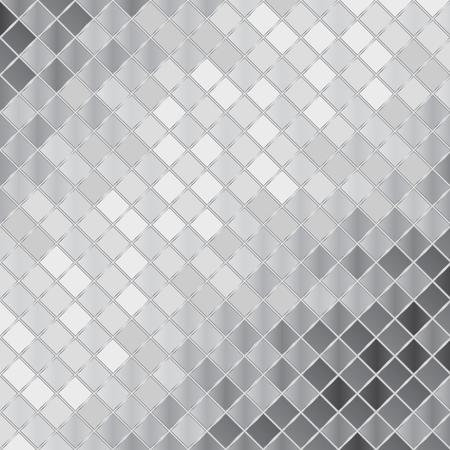 Vector silver mosaic background Foto de archivo