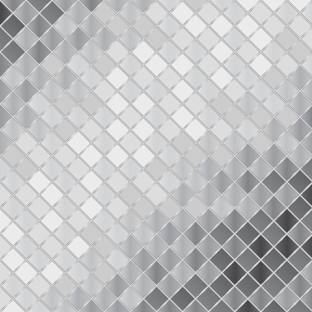 Vector silver mosaic background Banco de Imagens