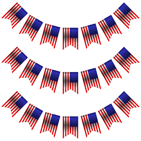 usa flags: Vector illustration of USA flags Stock Photo