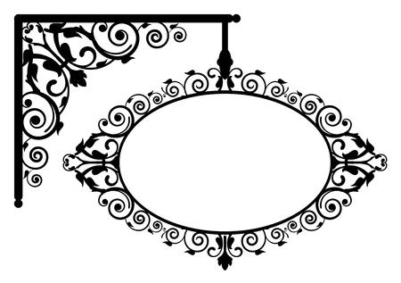 letreros: Ilustración del vector del letrero de la vendimia
